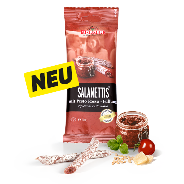 Salanettis® mit PestoRosso-Füllung 70g